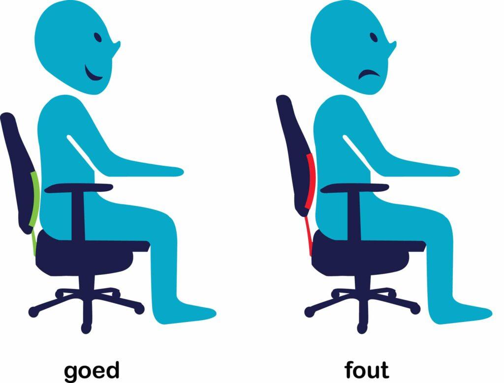 rughoogte bureaustoel instellen