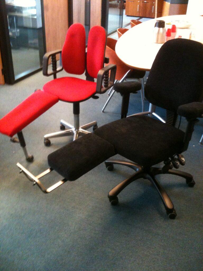 bureaustoel op maat met beensteun
