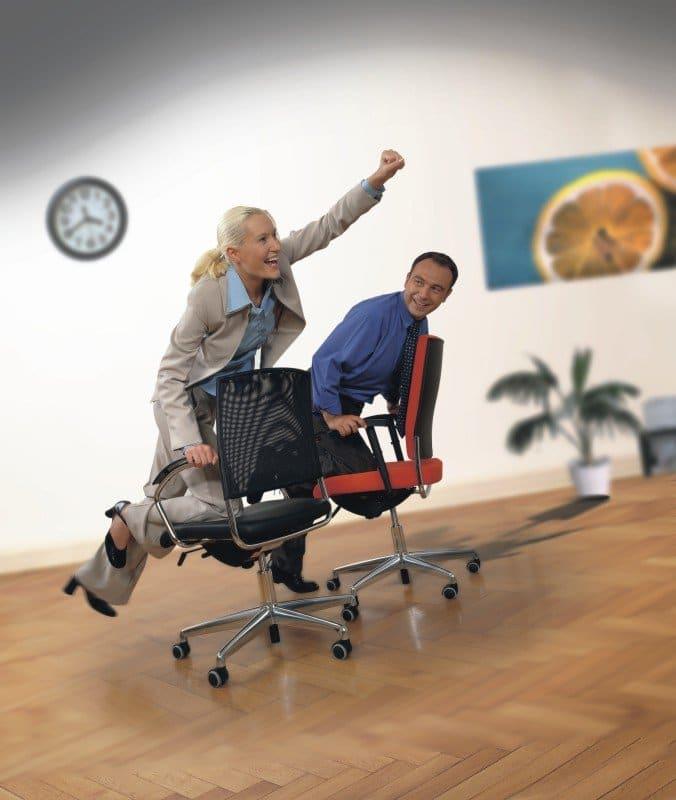 beweegmomentje bureaustoel