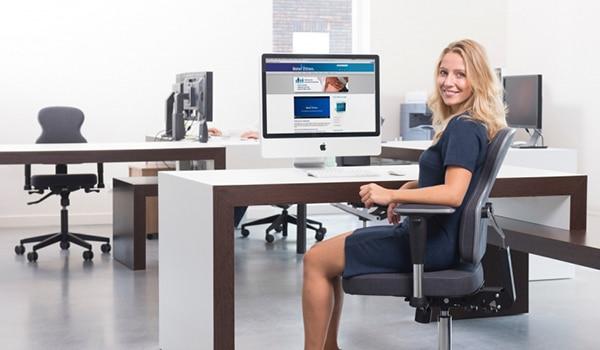 speciale bureaustoel voor vrouwen de Nuance
