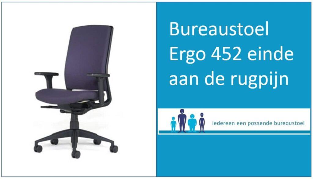 Bureaustoel Ergo 452 einde aan de rugpijn