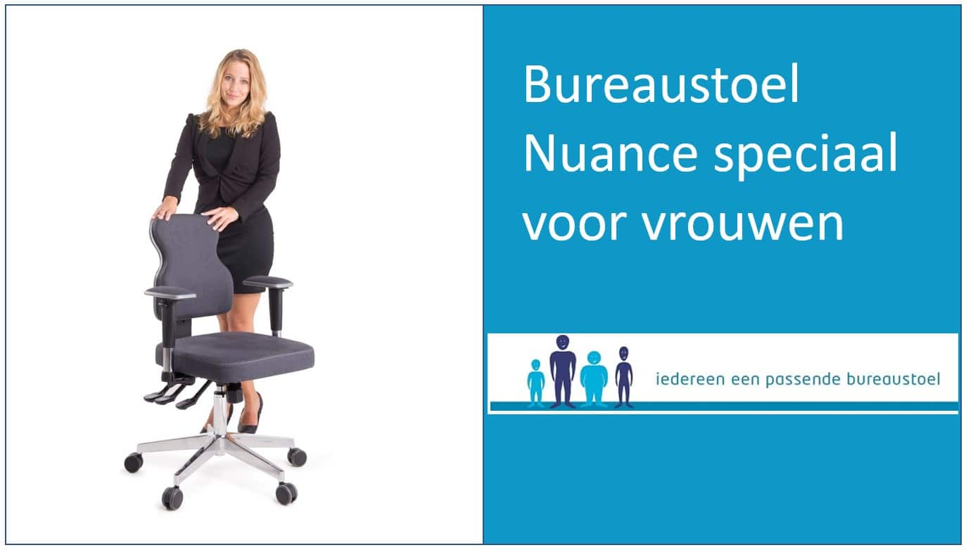 Ergonomische bureaustoel Nuance speciaal voor vrouwen