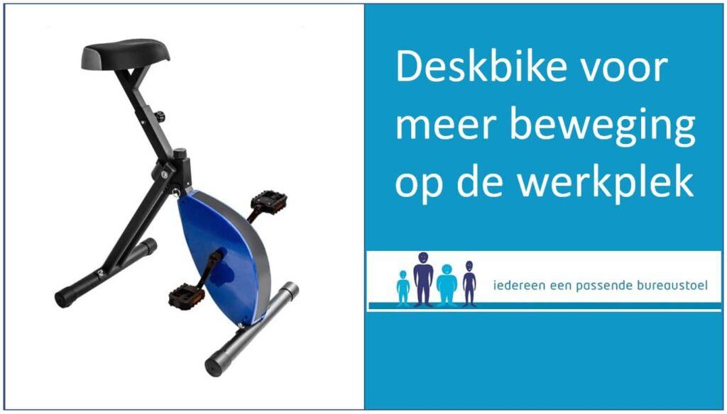 Deskbike voor meer beweging op de werkplek