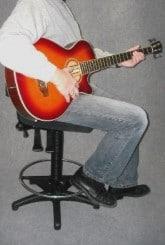 Ergonomische gitaarstoel