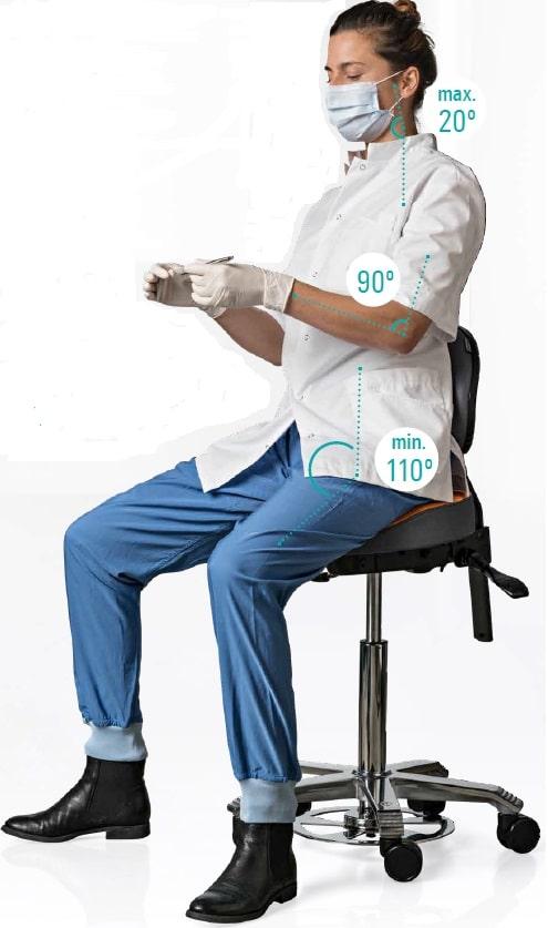 Ergonomische adelkruk voor tandartsen