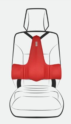 ergonomisch rugkussen voor in de auto