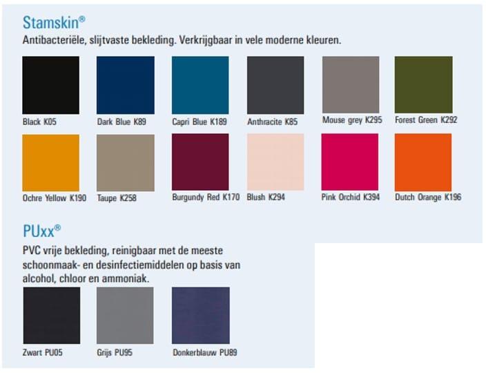 kleuren bekleding Score Stamskin en Puxx